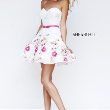Sherri Hill Short Homecoming Dress 4310 at Peaches Boutique