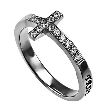 Purity Heart Ring, Stainless Steel, Christian Abstinence, Promise, Religious