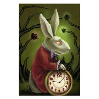 Lowbrow Art Company White Rabbit Art Print by Artist Diana Levin