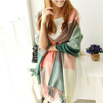 Scarf Women Winter Cachecol Women European And American Style !2018 Winter Light Fringe Scarves Long Shawl Tassel Cashmere Cg