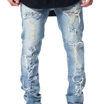 The Tattered Denim in Tinted Stone Wash