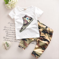 1-6 years Child Boy Clothes Summer New Fashion Kids Boys Clothes Children Toddler Boys Clothing Set T-shirt +Shorts Cotton T520