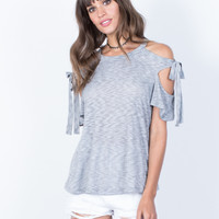 Tied Together Striped Top
