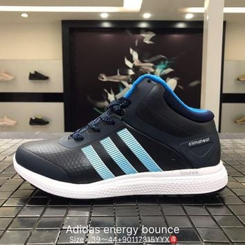 Adidas energy bounce leather breathable blue Fashion Casual Sports Shoes 90117315YYX Best Goods