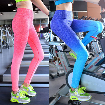 Space Dye High Waist Stretched Leggings
