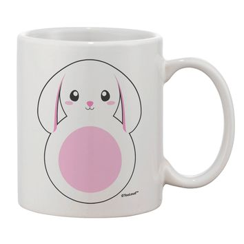 Cute Bunny with Floppy Ears - Pink Printed 11oz Coffee Mug by TooLoud