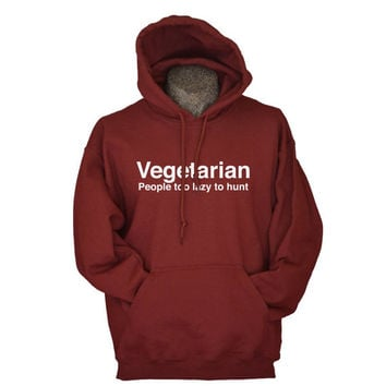 Meat lover hoodie hunter and hunting hooded sweatshirt for men guys maroon unisex fleece sweater funny gift for hunter husband father son