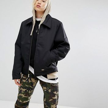 Dickies Zip Up Jacket With Collar at asos.com