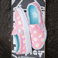 Vans Fashion Women Daisy Floral Slip-On Canvas Sport Casual Old Skool Flat Shoe Sneakers Pink I12356-16