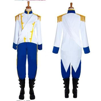 Prince Eric Costume Cosplay The Little Mermaid Outfit Carnival Clothes Adult Men