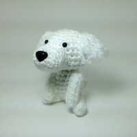 SALE / Poodle Crochet Dog Amigurumi Dog Stuffed Animal Doll / Made to Order