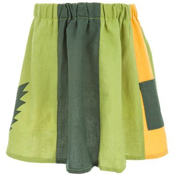 Grateful Dead - Lightning Bolt Green Juvy Panel Skirt