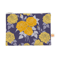 "Anneline Sophia ""Summer Rose Yellow"" Purple Lavender Everything Bag"
