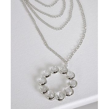 Multi Layered Crystal Necklace
