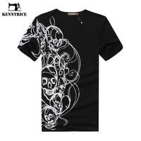 Clothes China Men T-Shirt White Black Rock T Shirt