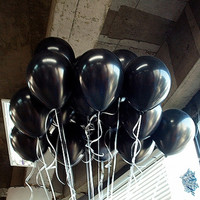 10pcs/lot 10inch 1.5g Black Latex Balloon Inflatable Air Balls For Happy Birthday Wedding Party Balloons Decoration Classic Toys