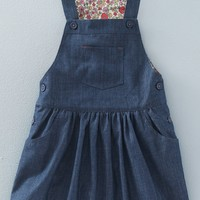 Mini Boden 'Dungaree' Overall Dress (Toddler Girls, Little Girls & Big Girls) | Nordstrom