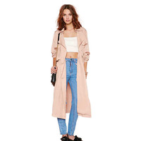 casual women autumn long detachable trench with double breast