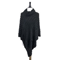London Black Poncho