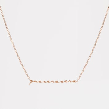 Que Sera Sera Necklace - Rose Gold