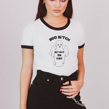 Get Out Da Way Ringer Tee