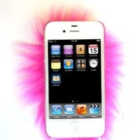 Furrywraps / PINK! Furry IPHONE 5 Case. Soft, Fuzzy, Colorful and Fun Protection for Your IPHONE 5