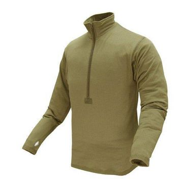 Base II Zip Pullover Color- Tan (Large)