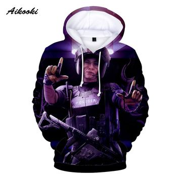 Aikooki Rainbow Six Siege 3D Hoodies Sweatshirt Mens/Womens Cotton 3D Hoodie Casual High Quality Handsome Male 3D Hoody Clothes