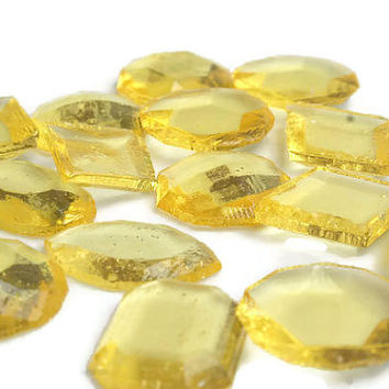 Yellow Edible Jewels - Lemon Yellow Flavor, Hard Candy  - 60 Candy Pack - Cake Decorations, Wedding Favors, Party Favors