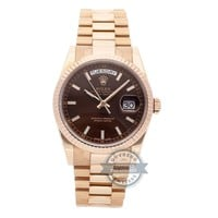Rolex Day-Date Auto 36mm Everose Gold Mens President Bracelet Watch 118235