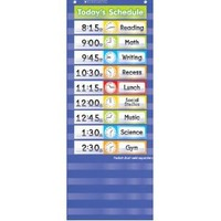 Scholastic Teacher's Friend Schedule Cards Pocket Chart Add-ons, Multiple Colors (TF5405)