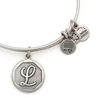 Alex and Ani Initial II Expandable Wire Bangle L - Russian Silver