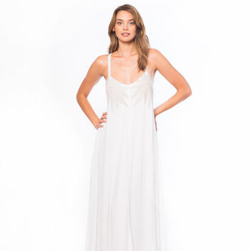 Mara Hoffman Embroidered Gauze Maxi Dress