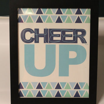 Cheer Up Wall Decor/Digital Print 8x10 by InspiringTypography