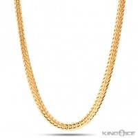 4mm Men's 14K Yellow Gold Plated Franco Chain