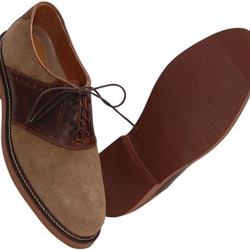 Men's Saddle Up Shoes in Dirty Buck Suede and Briar by Country Club Prep