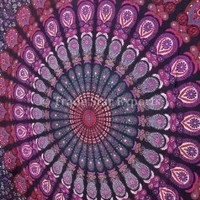 Mandala Tapestry, Indian Wall Hanging, Bohemian Decor, Dorm Bedding, Hippie Wall Tapestries, Beach Blanket