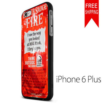 TACO BELL SAUCE FIRE iPhone 6 Plus Case
