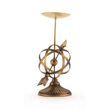 A10892 Mundo Candle Holder Lg Antique Brass