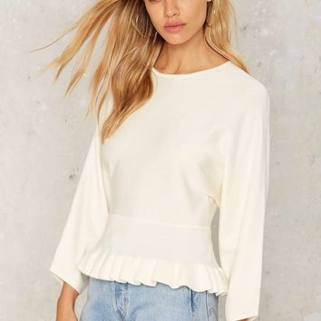 Icing on the Cake Ruffle Sweater