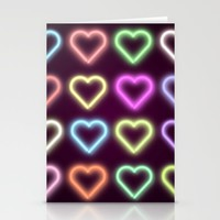 Neon Love Stationery Cards by Dood_L