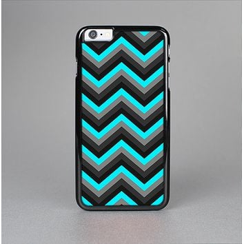 The Turquoise-Black-Gray Chevron Pattern Skin-Sert for the Apple iPhone 6 Plus Skin-Sert Case