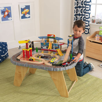 KidKraft Transportation Station Train Set & Table - 17564