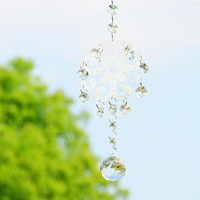Crystal Prism Ball Metal Christmas Part Hanging Pendants Decoration