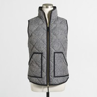 Printed quilted puffer vest : | Factory