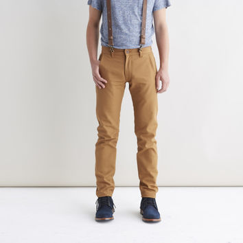 Railcar Flight Trousers Camel - Railcar Fine Goods - Context Clothing