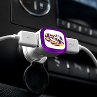NCAA Louisiana State Tigers Car Charger, White