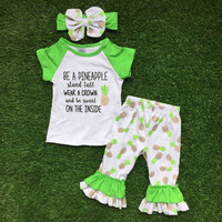 In Stock- be a pineapple capri set