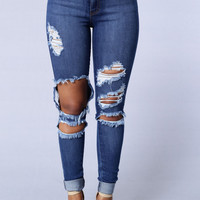 Beach Bum Jeans - Medium Blue
