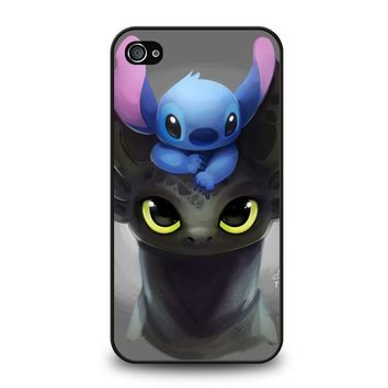 TOOTHLESS AND STITCH iPhone 4 / 4S Case Cover